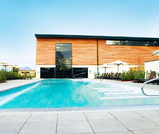 Image of outdoor spa pool at David Lloyd Farnham