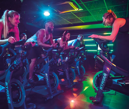 Image of a Rhythm class taking place at David Lloyd