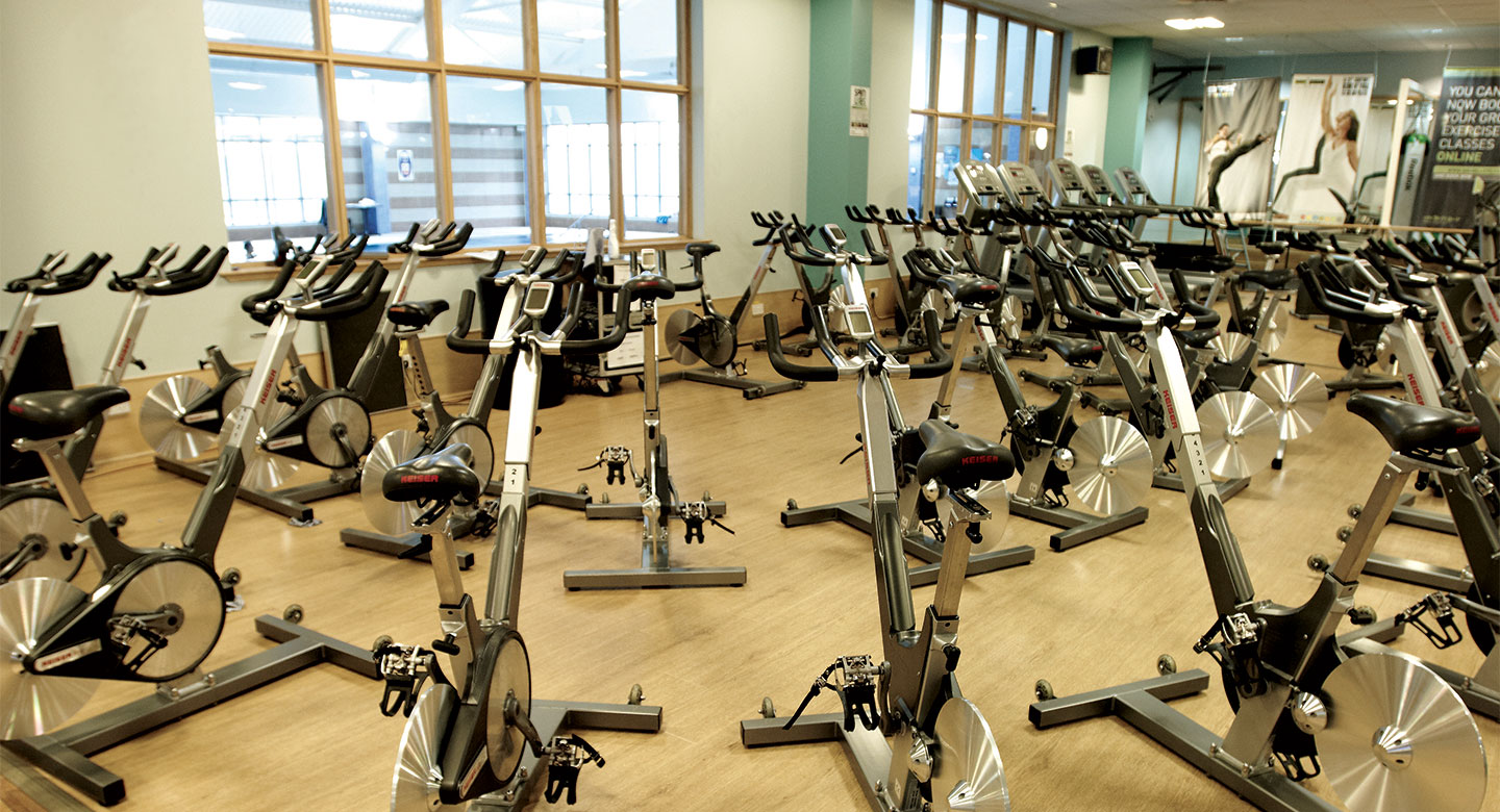 David Lloyd Belfast group cycling