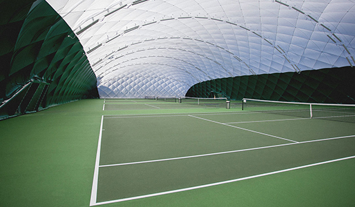 David Lloyd Colchester bubble tennis