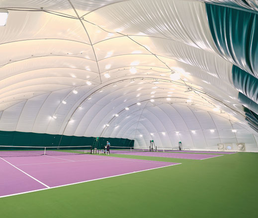 Image of tennis dome at David Lloyd