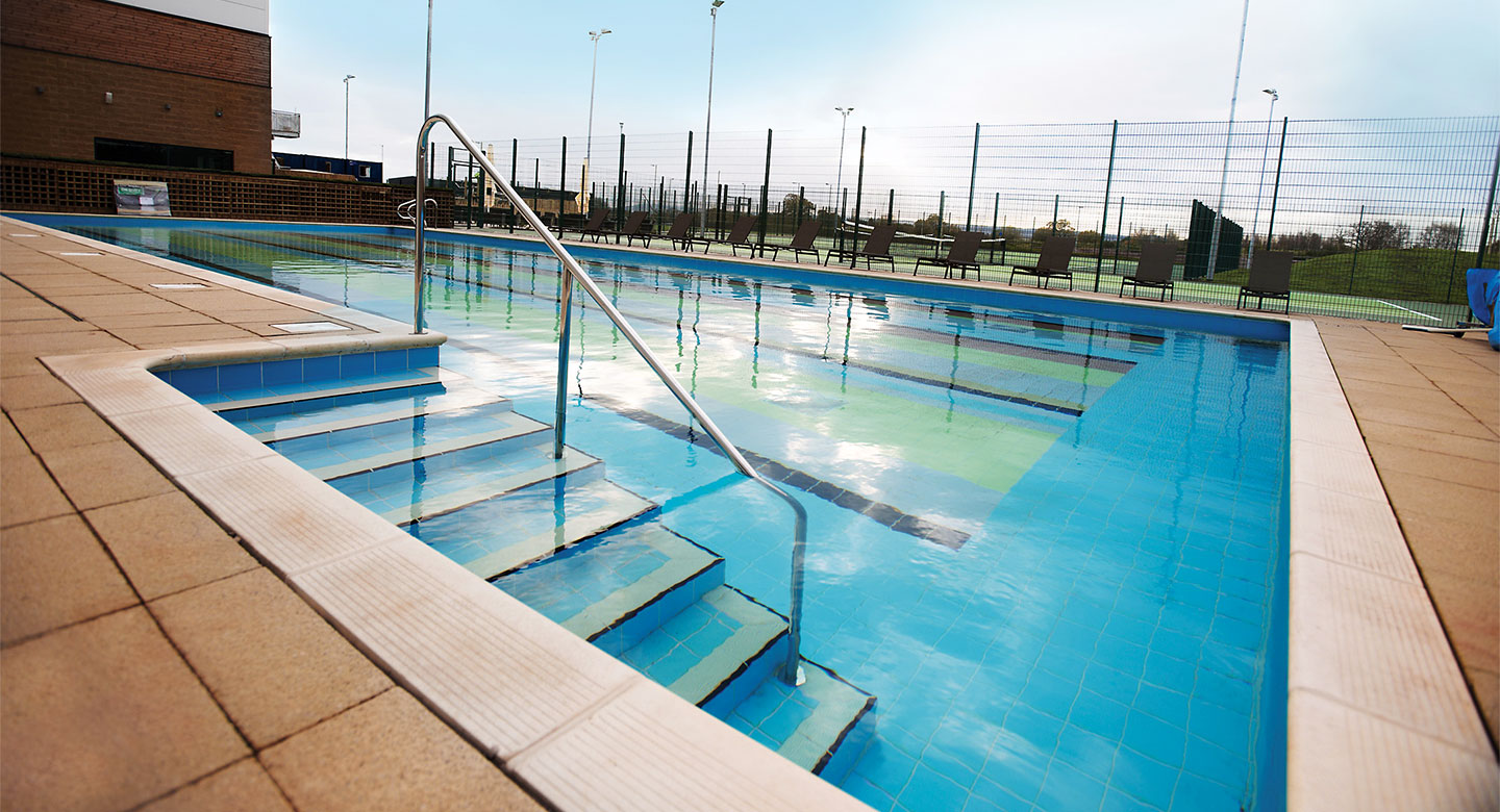 David Lloyd Exeter outdoor pool
