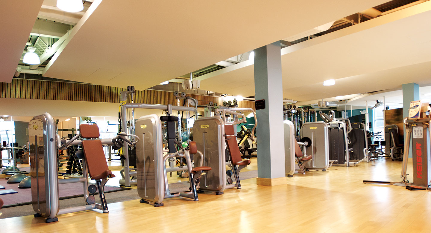 Fixed weight machines in the  David Lloyd Kingston Gym.