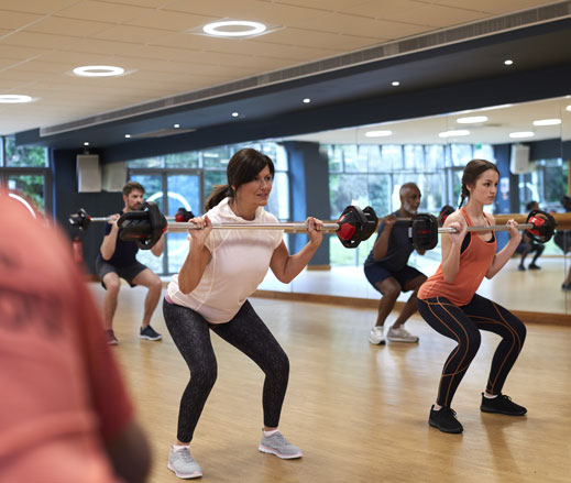Image of Bodypump class at David Lloyd