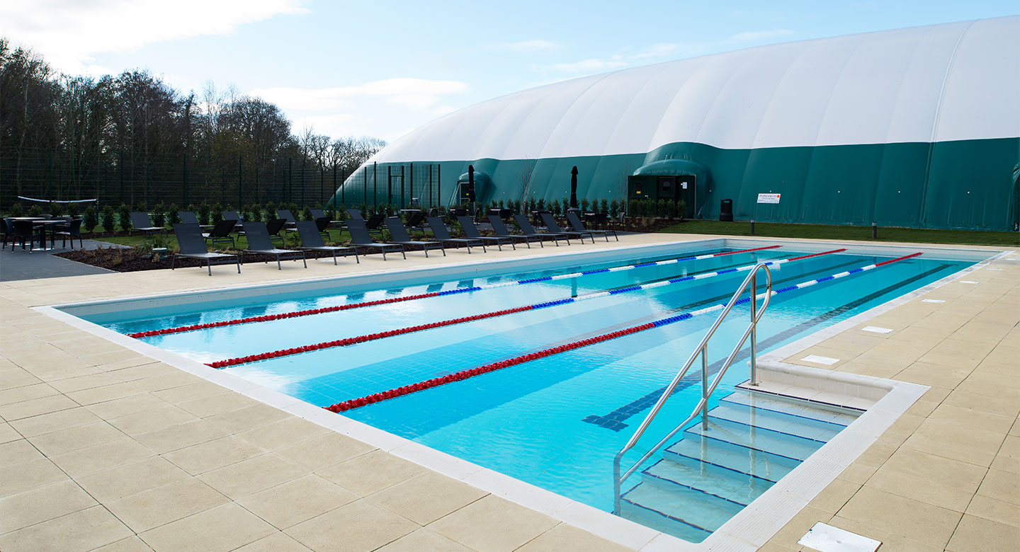 Outdoor pool at David Lloyd Newbury