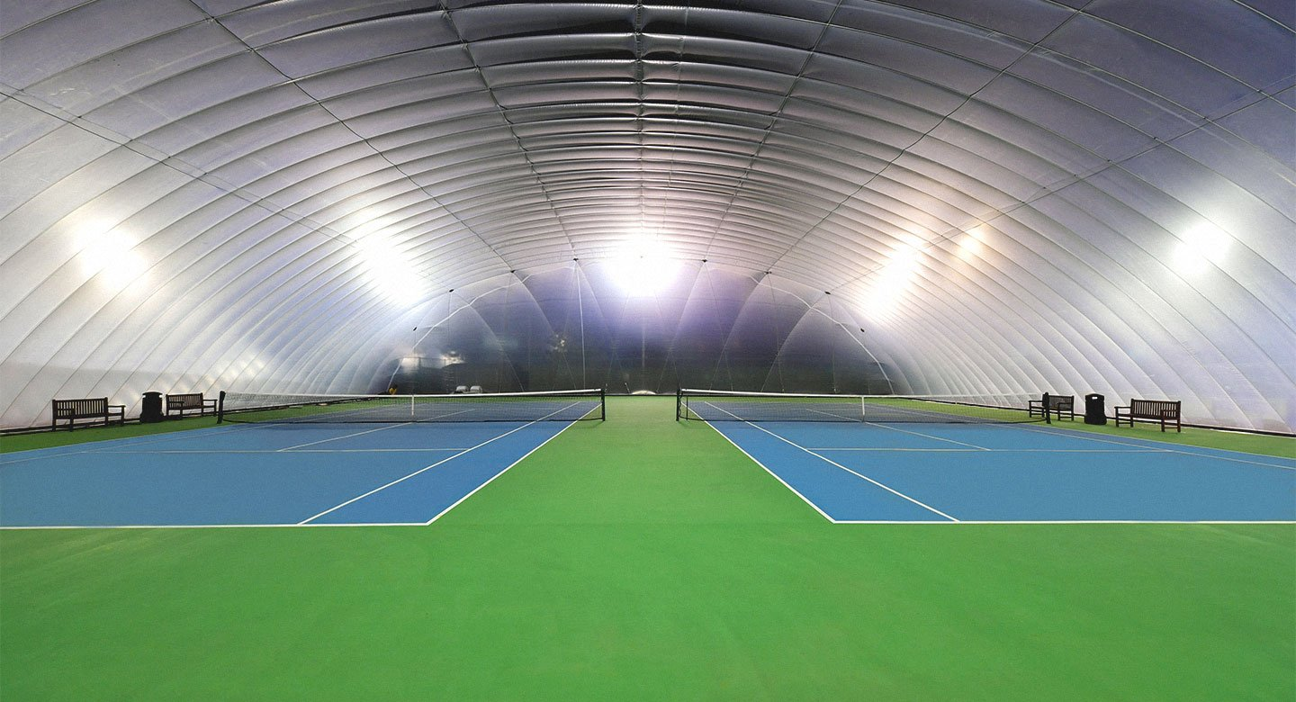 David Lloyd Peterborough Bubble Outdoor Tennis Courts