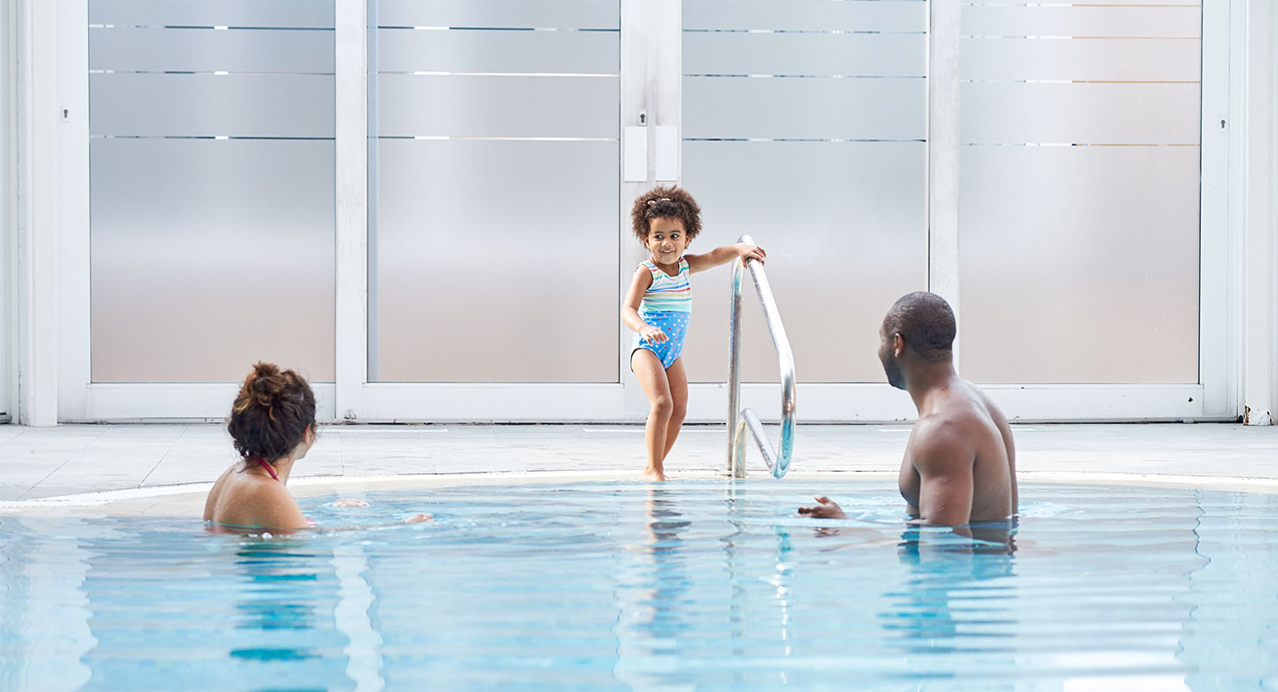 Image of a family enjoying time in the pool at David Lloyd Purley