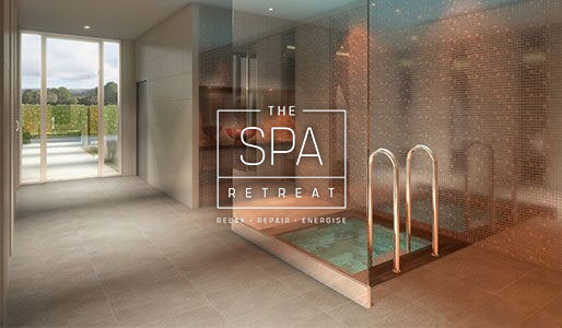 Image of the plunge pool at David Lloyd Royal Berkshire with Spa Retreat logo overlayed