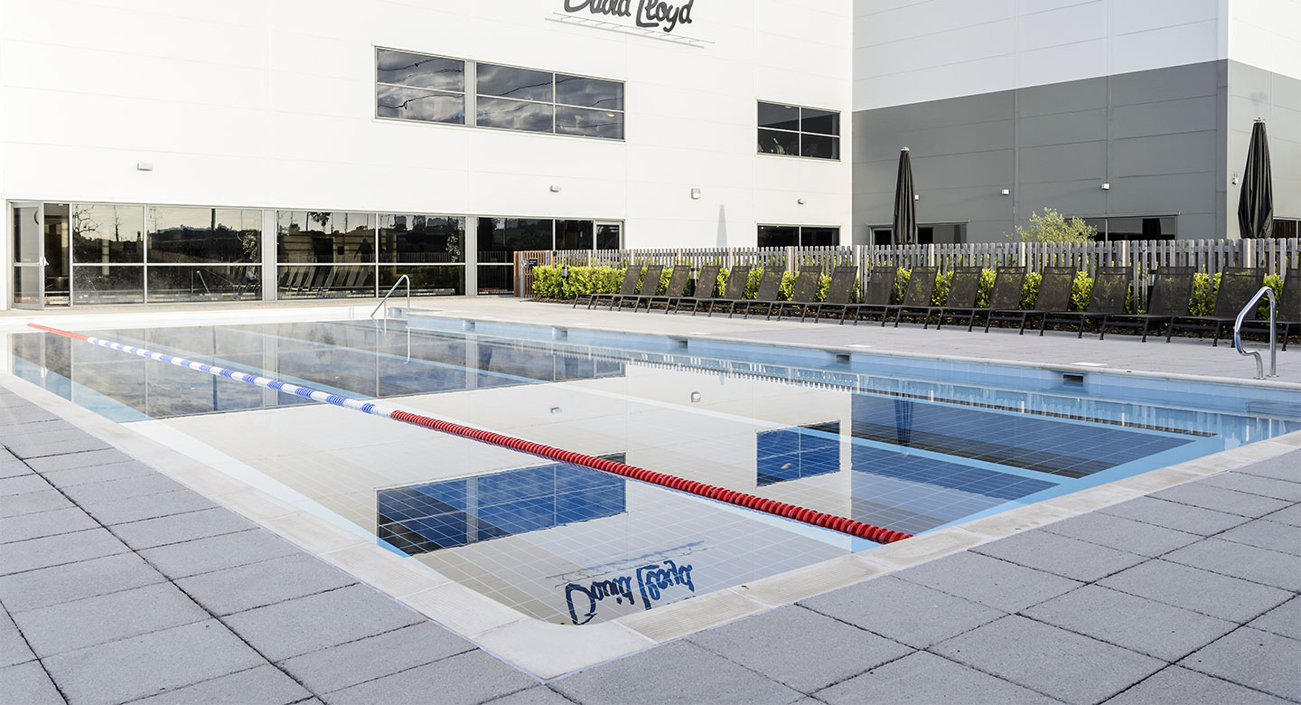 David Lloyd Worcester outdoor pool