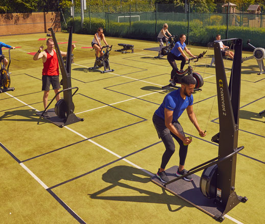 Image of outdoor gym equipment at David Lloyd