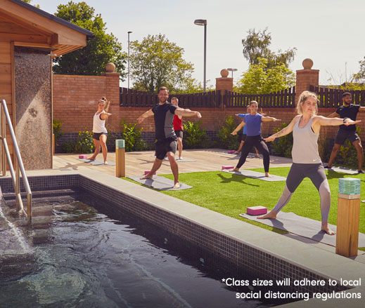 Image of yoga outdoors at David Lloyd