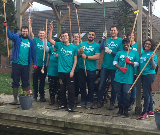 David Lloyd employees at Keech Hospice