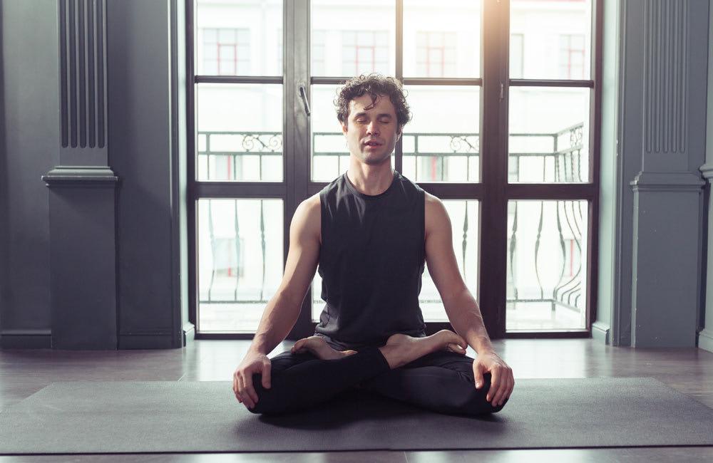 Image of man meditating