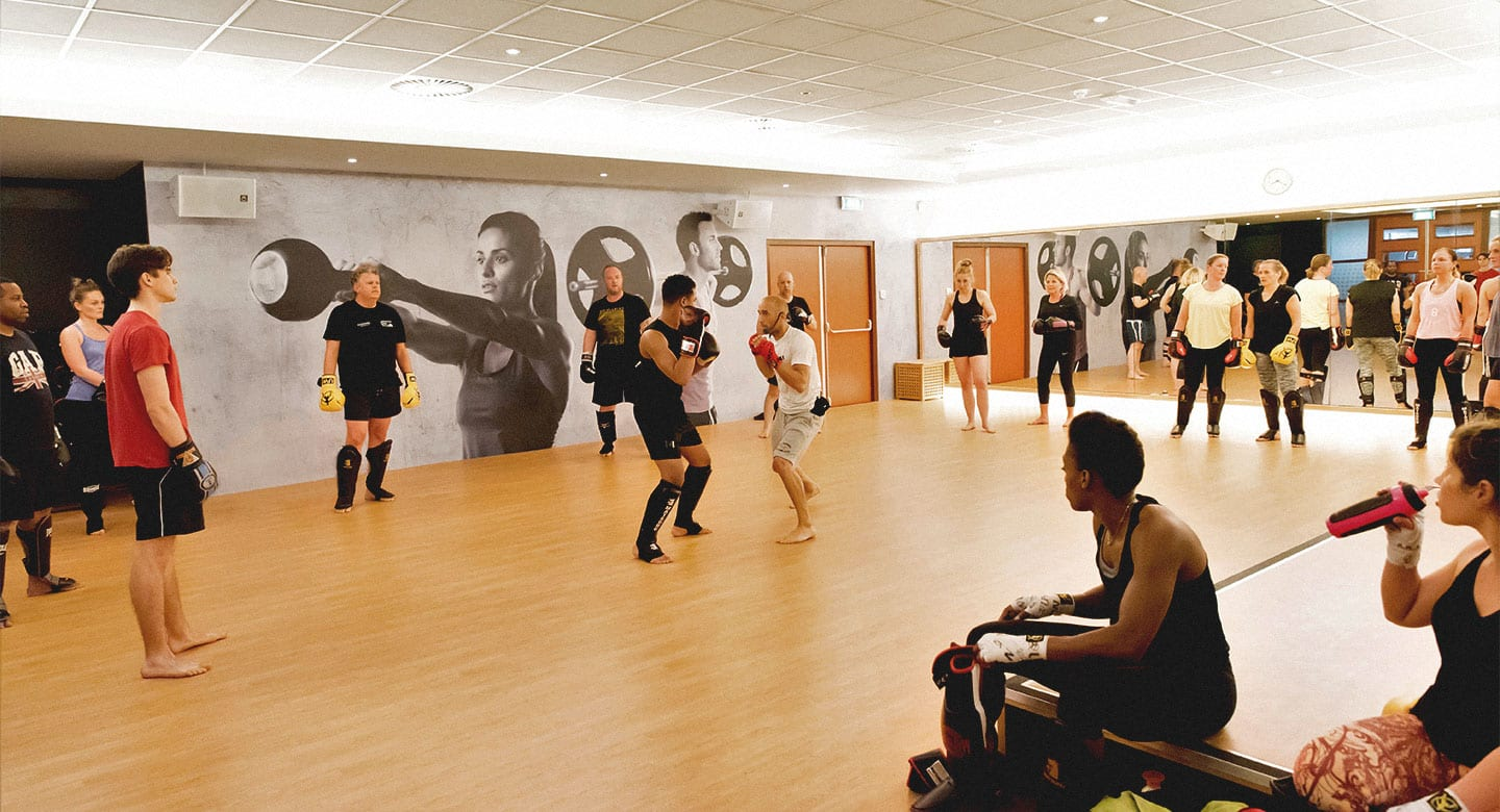 Image of class taking place at David Lloyd Capelle