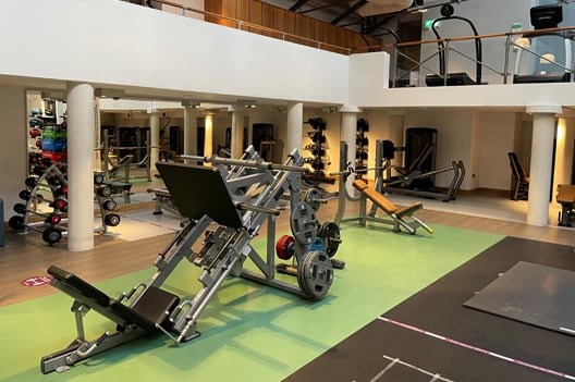 Gym floor at Harrogate