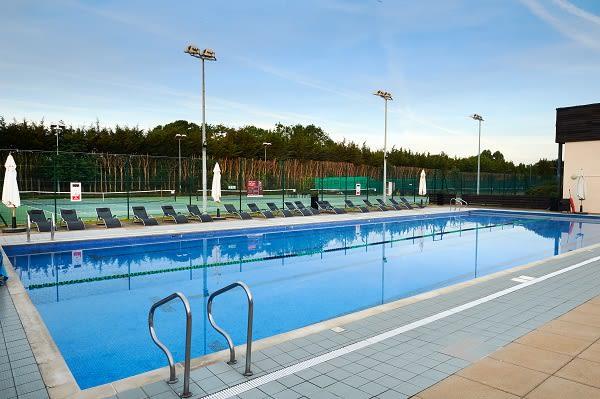 Heated outdoor swimming pool at David Lloyd Heston
