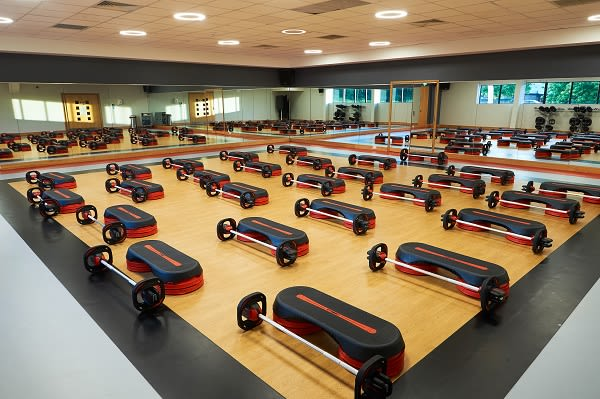 Exercise class studio at David Lloyd Heston