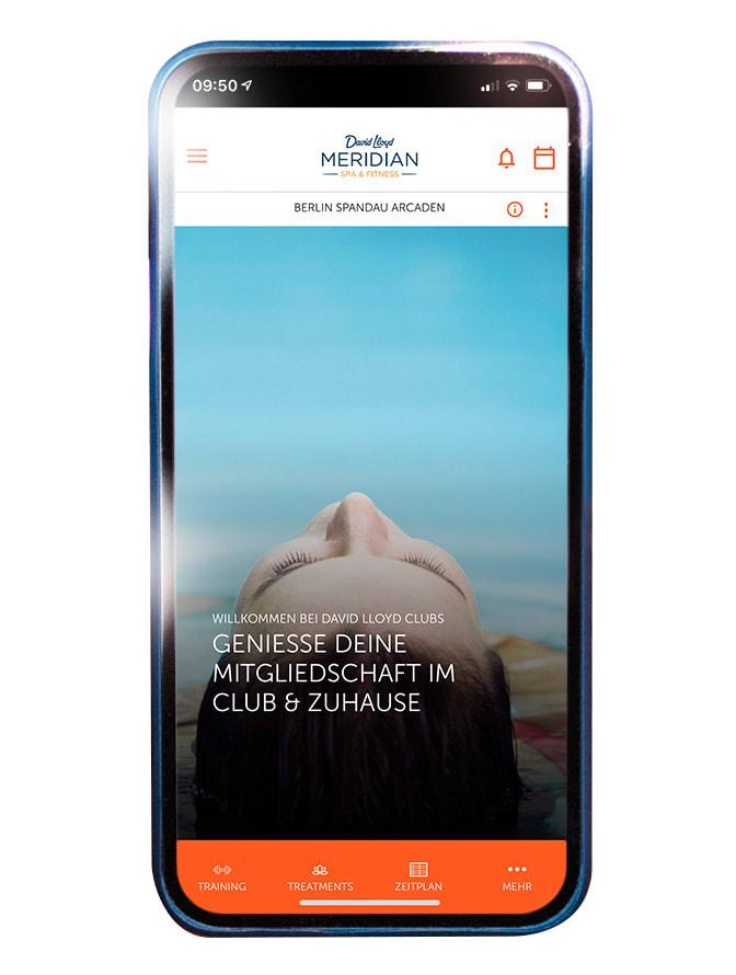 Die Meridian Spa App