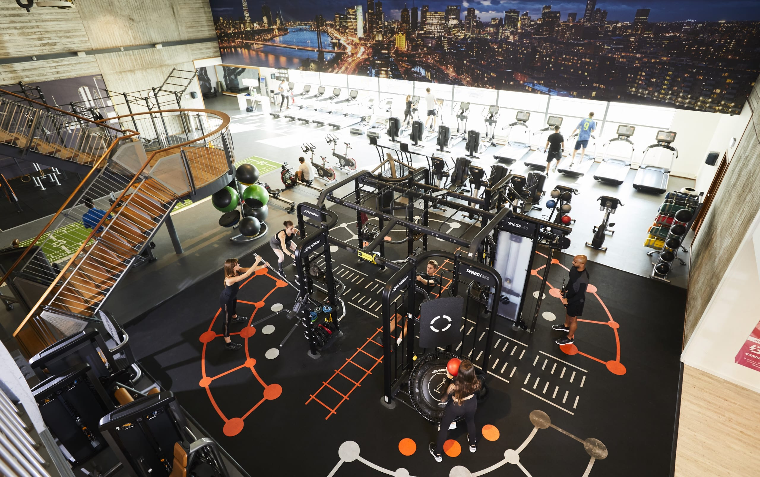 Image of the Synrgy area at David Lloyd Rotterdam