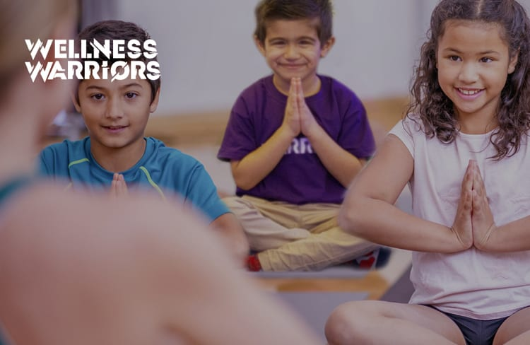 Image of children taking part in wellness warriors class at David Lloyd Clubs