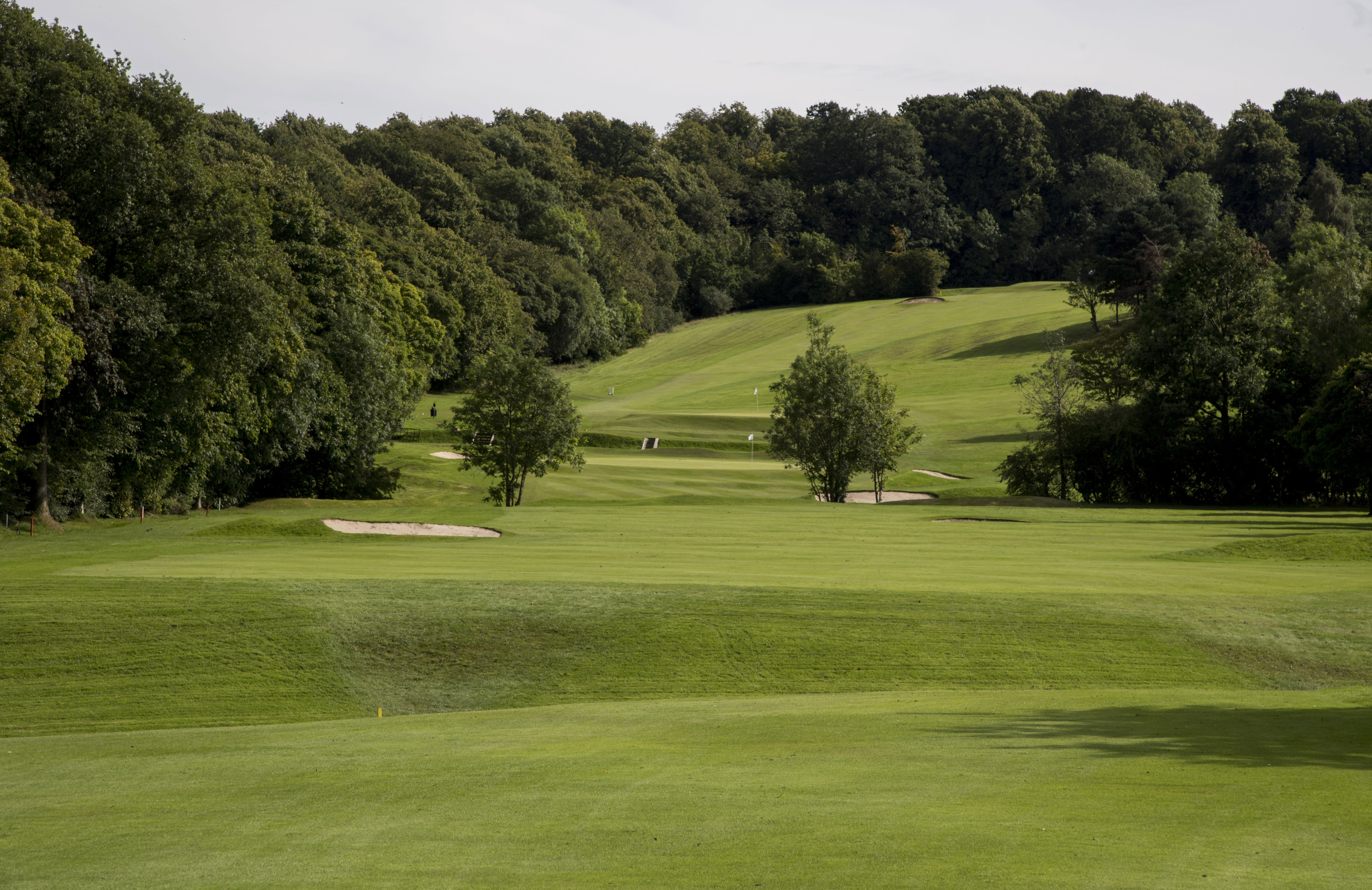 View from the golf course towards the countryside at David Lloyd Glasgow Rouken Glen