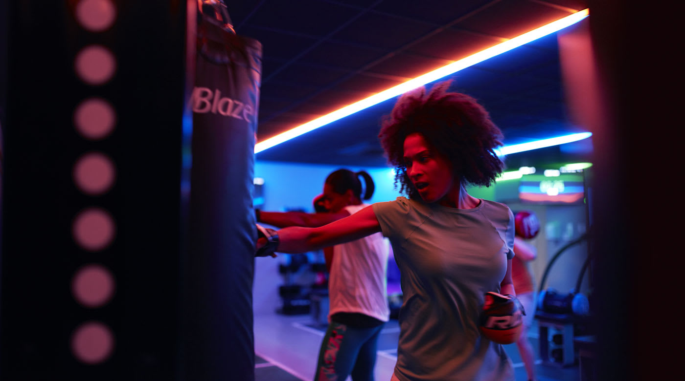 Image of woman taking part in Blaze class at David Lloyd Clubs