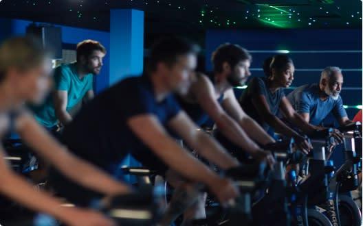 Image of group cycling class at David Lloyd