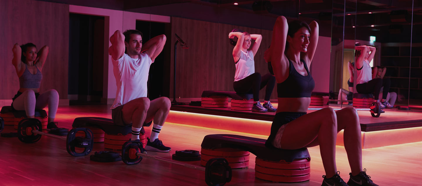 Image of class in high impact studio at David Lloyd Clubs