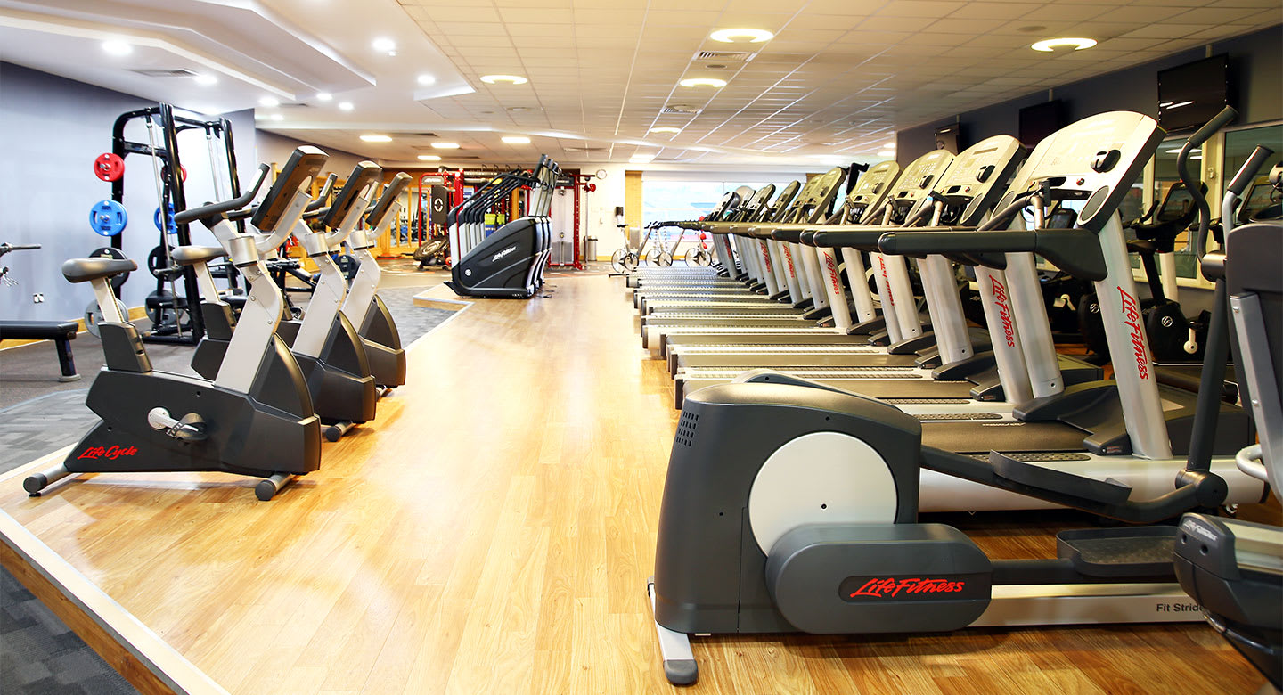A spread of the state of the art gym equipment available at the club gym