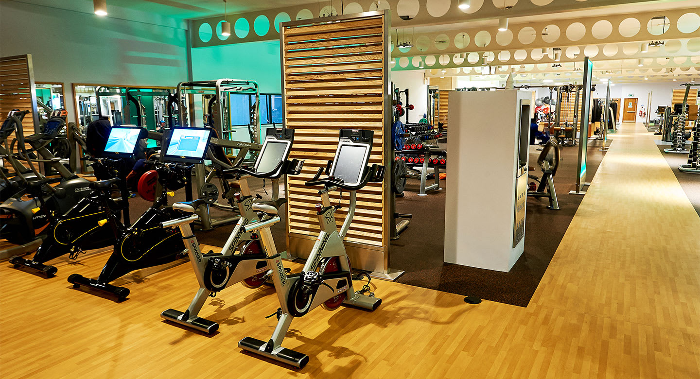 A spread of the state of the art gym equipment available at Hatfield