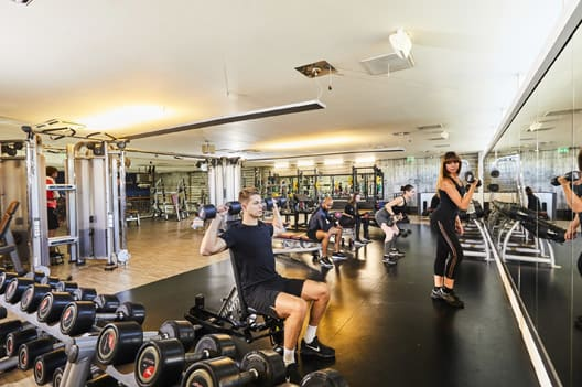 Weights area of gym