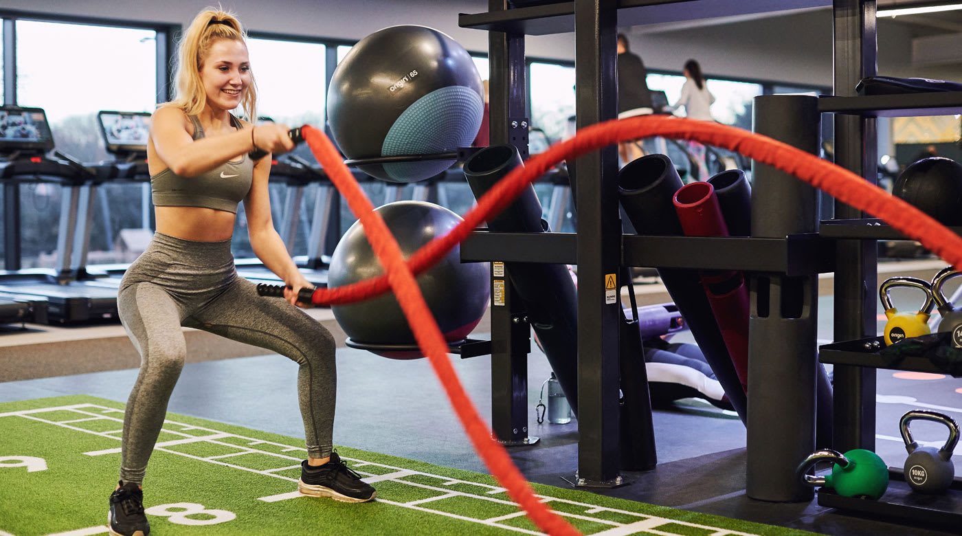 Image of the state of the art gym equipment available at David Lloyd Cheadle