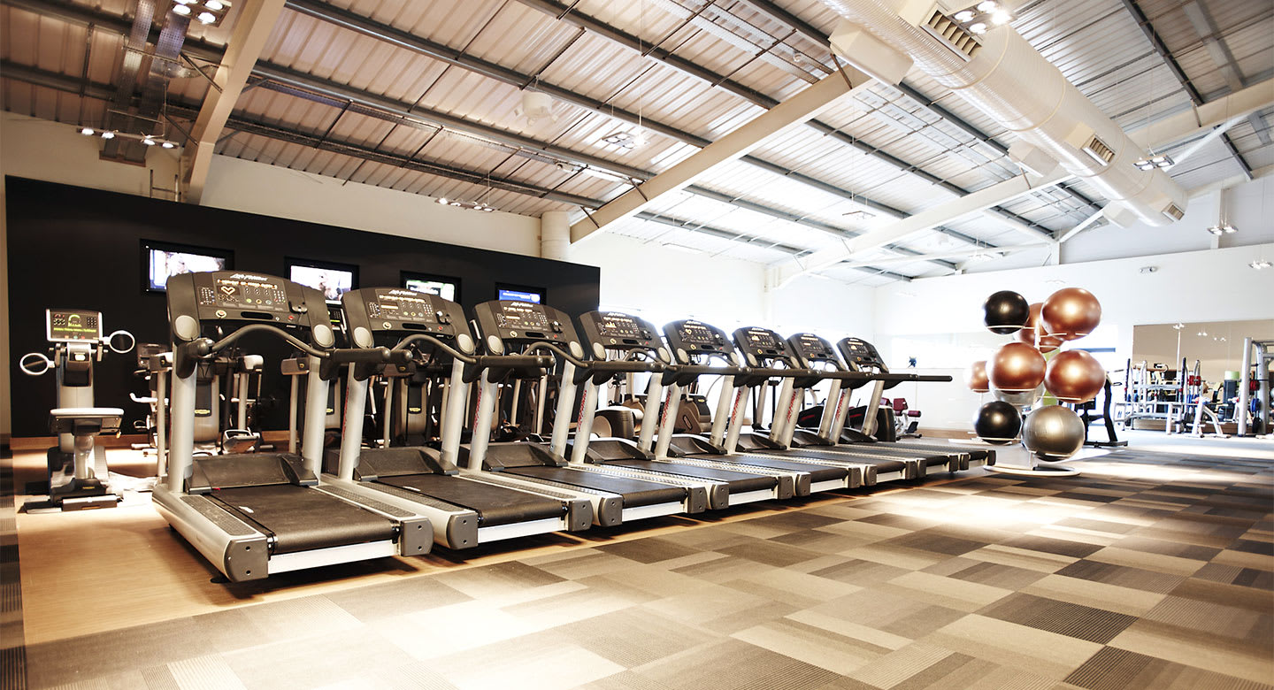 A spread of the state of the art gym equipment available at Exeter