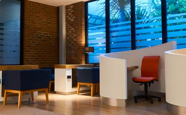 The calm, elegant and functional adults only social space at Raynes Park