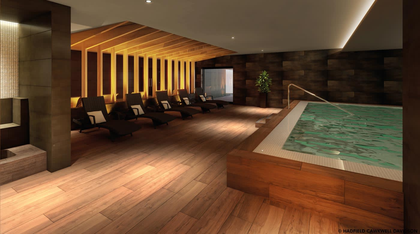 Render of the new spa area set to be added to David Lloyd Beaconsfield