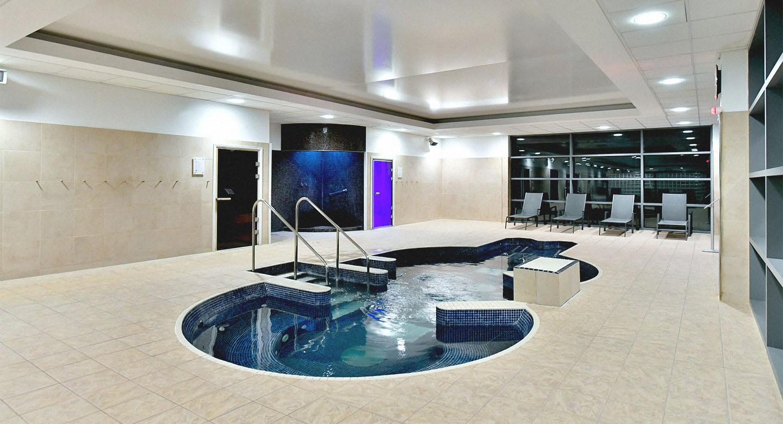 Elegant loungers in the David Lloyd spa