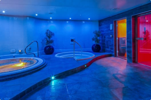 Elegant loungers in the Celsius Spa at Milton Keynes