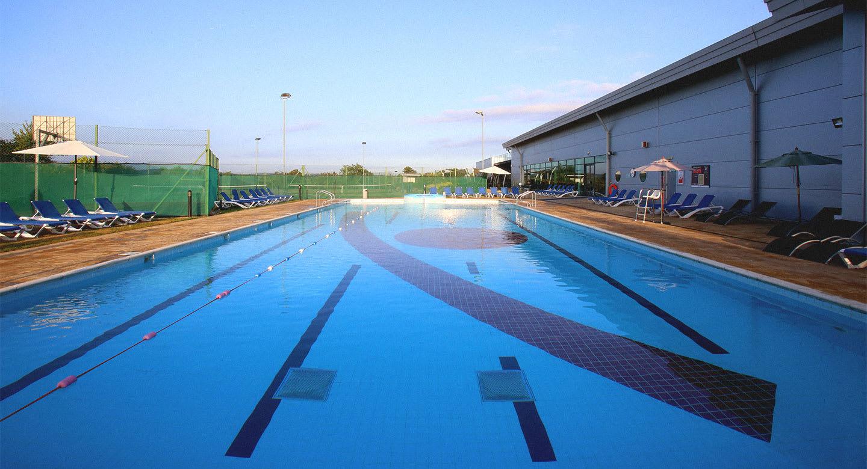 The clear blue lanes of a David Lloyd pool