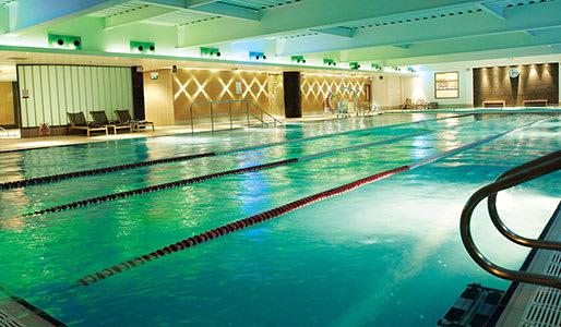 The blue waters of a David Lloyd pool