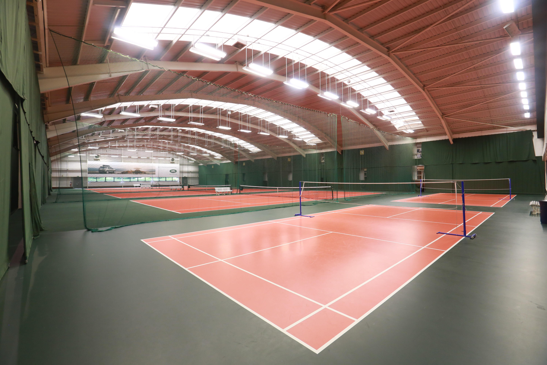 The badminton courts