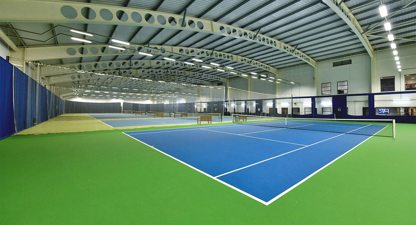One of the many tennis courts at the club