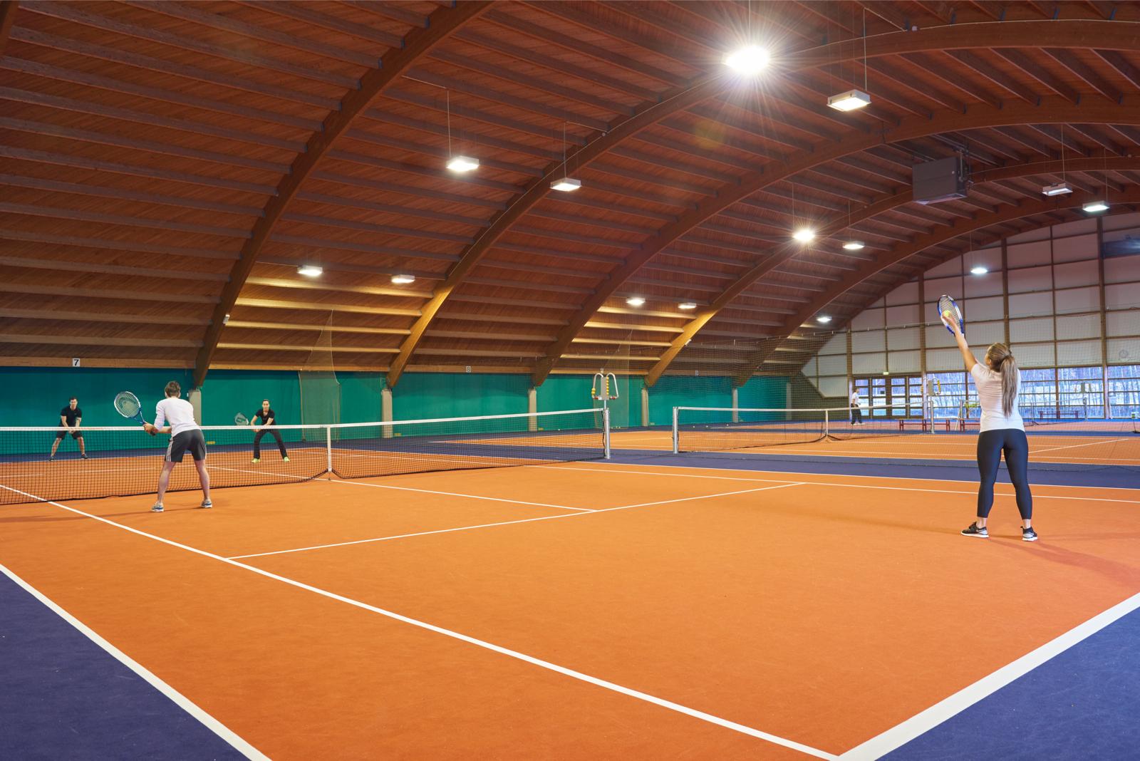 Members enjoying a game of tennis at David Lloyd Eindhoven