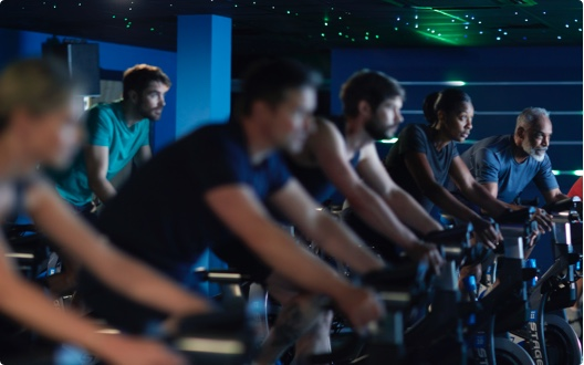 Group cycling at David Lloyd