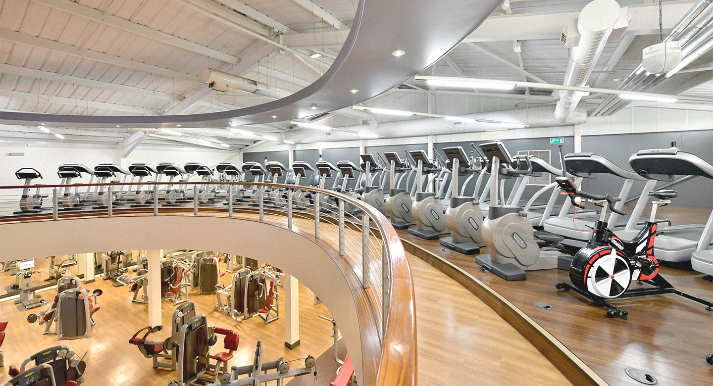Cardio machines at the club gym