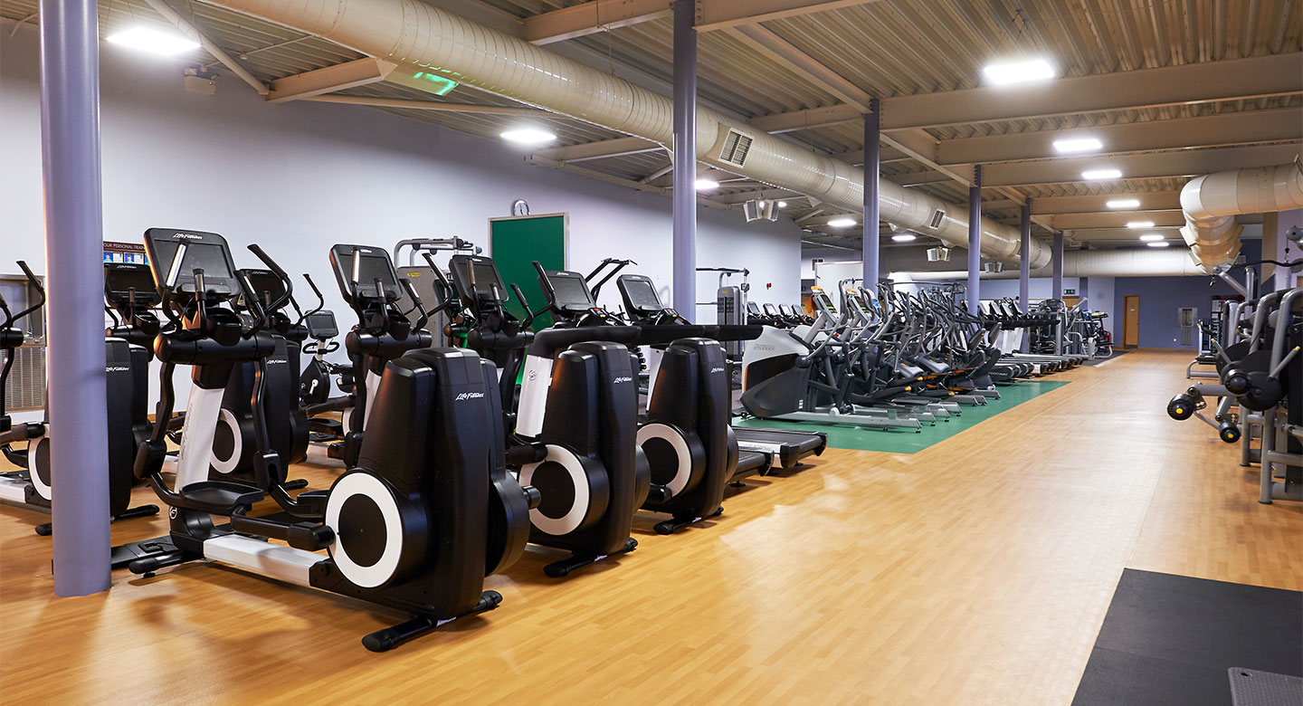 A spread of the state of the art gym equipment available at David Lloyd gyms