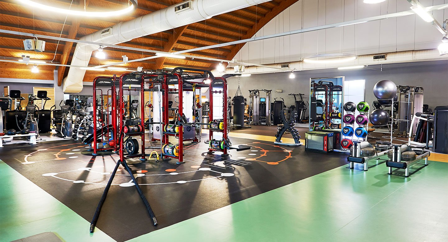 A spread of the state of the art gym equipment available at the gym