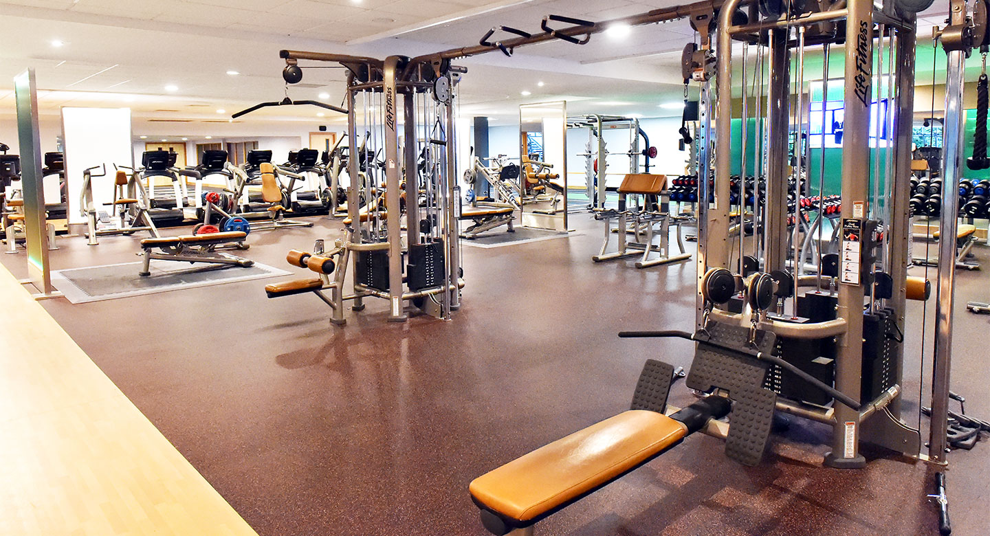 A spread of the state of the art gym equipment available at Leeds