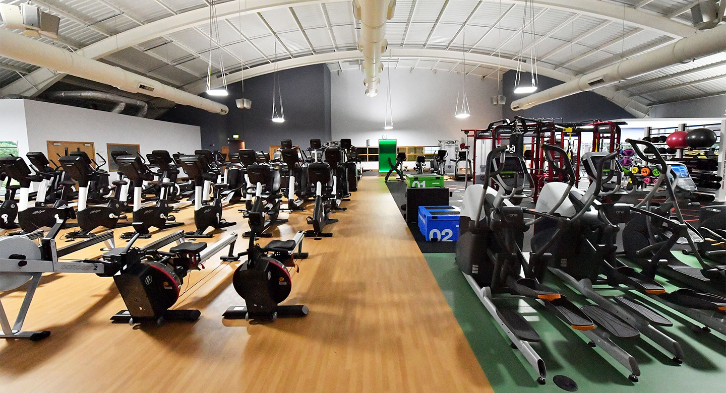A spread of the state of the art gym equipment available at Raynes Park