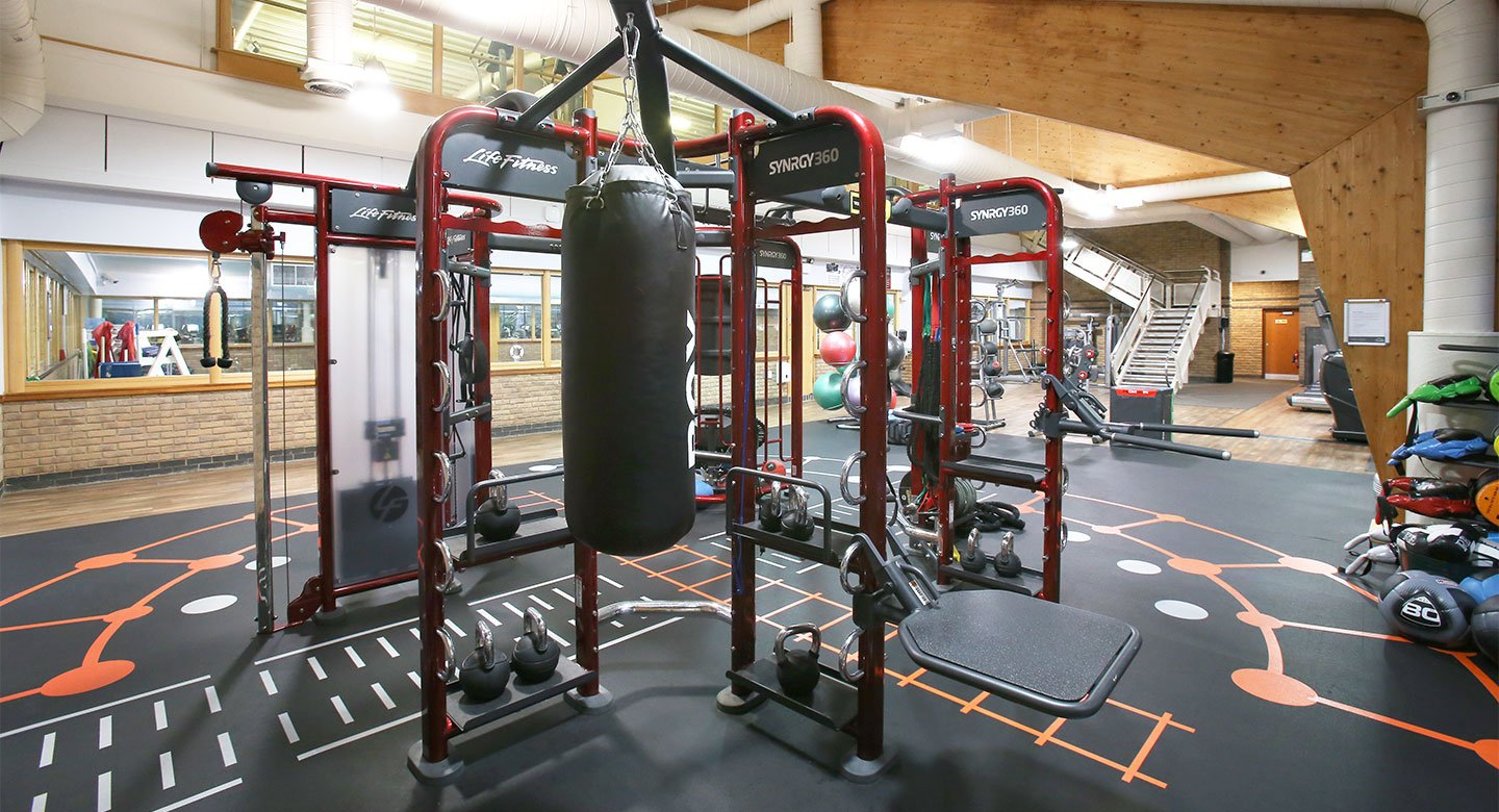 A spread of the state of the art gym equipment available
