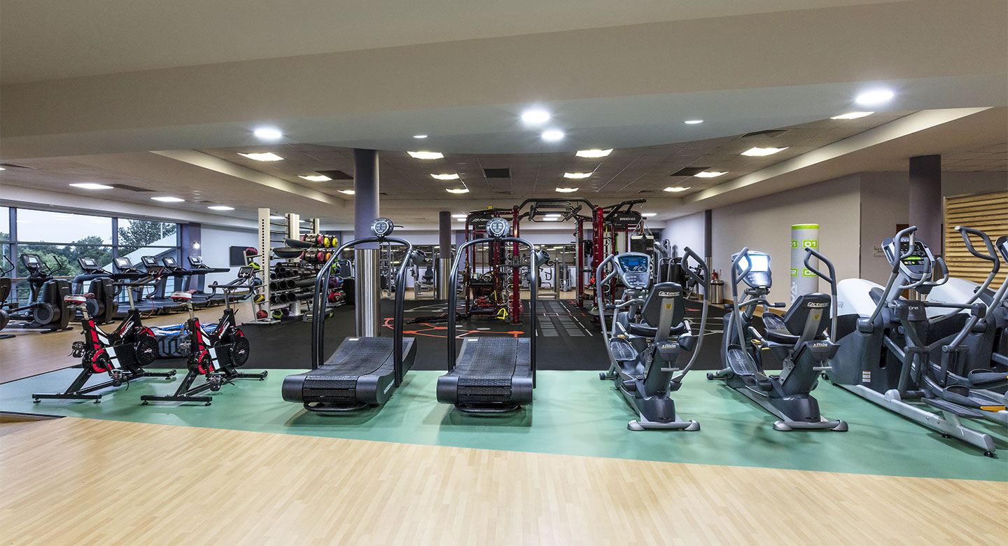 A spread of the state of the art gym equipment available at the club
